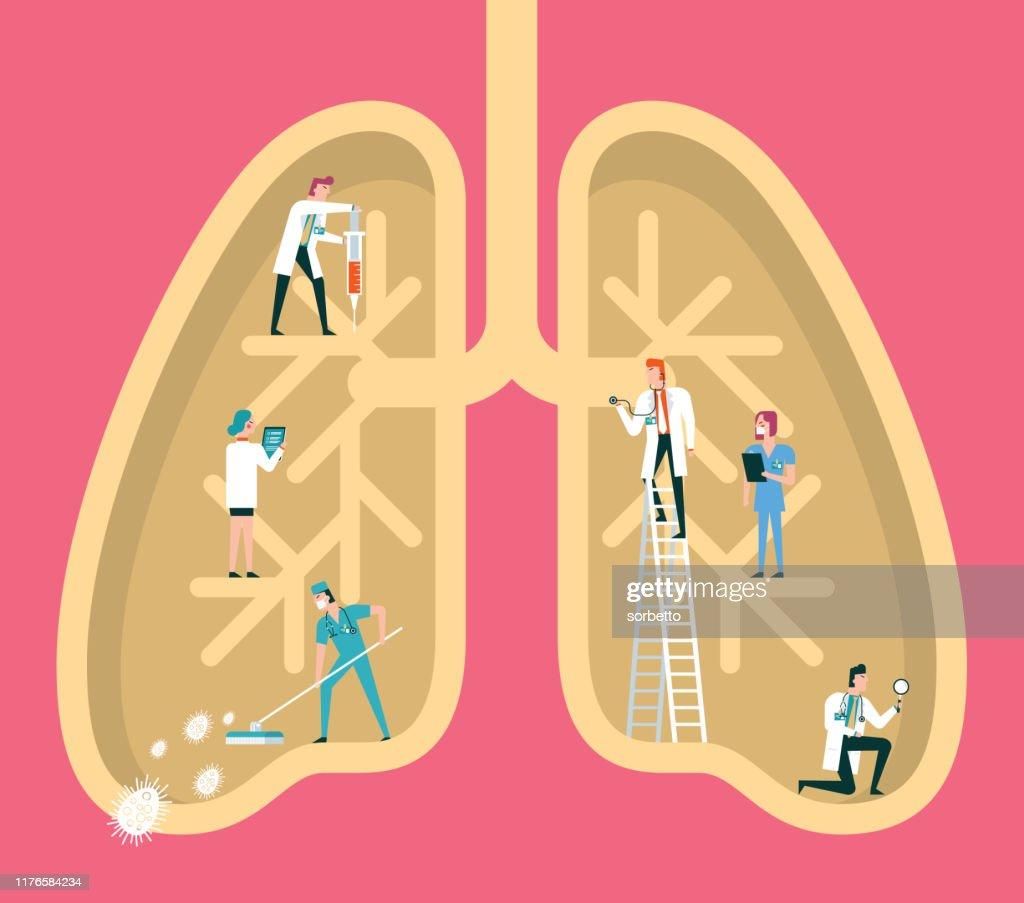 人間の肺 : ストックイラストレーション