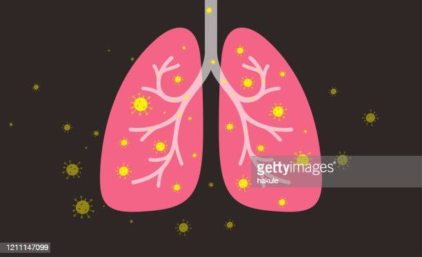 human lungs with coronavirus - lung stock illustrations