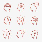 Human mind icons