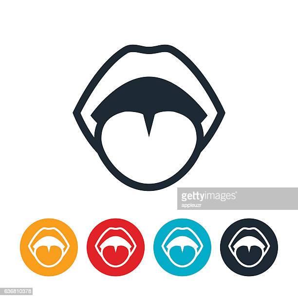 human mouth icon - tongue stock illustrations, clip art, cartoons, & icons