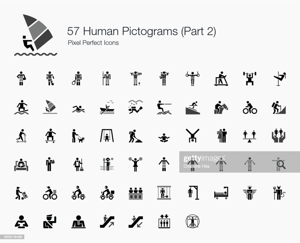 57 Human Pictograms (Part 2 of 2)