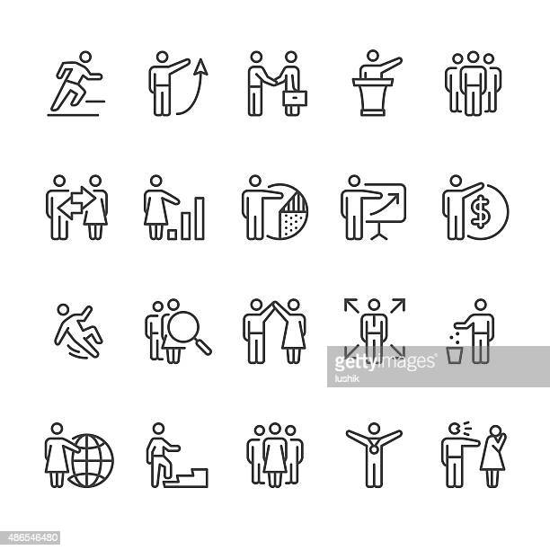 Human Resource Business Person zugehörige Vektor-icons