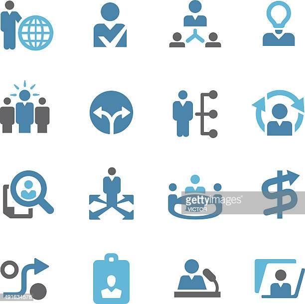 human resource and business strategy icons - conc series - corporate hierarchy stock illustrations, clip art, cartoons, & icons