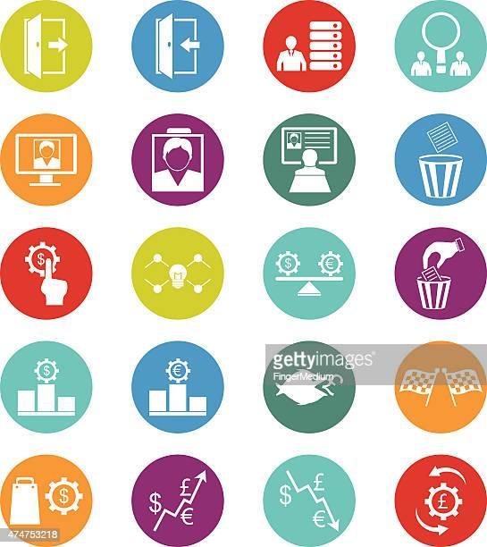 Icônes de ressources humaines et de gestion