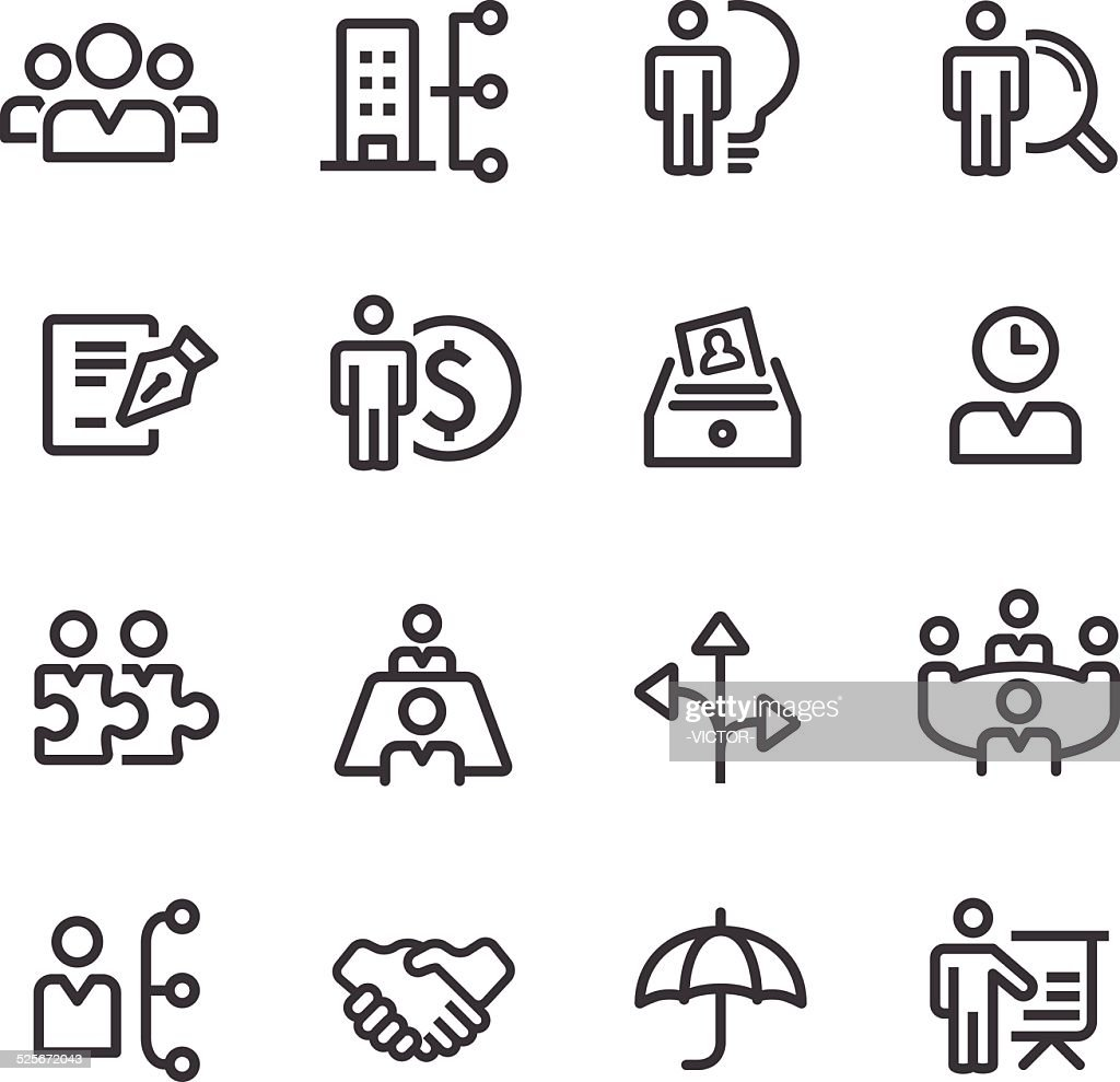 human resource, Business and Management Icons - Line Series