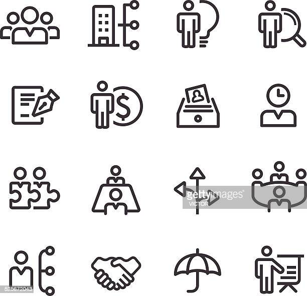 human resource Business-und Management-Icons-Line Serie