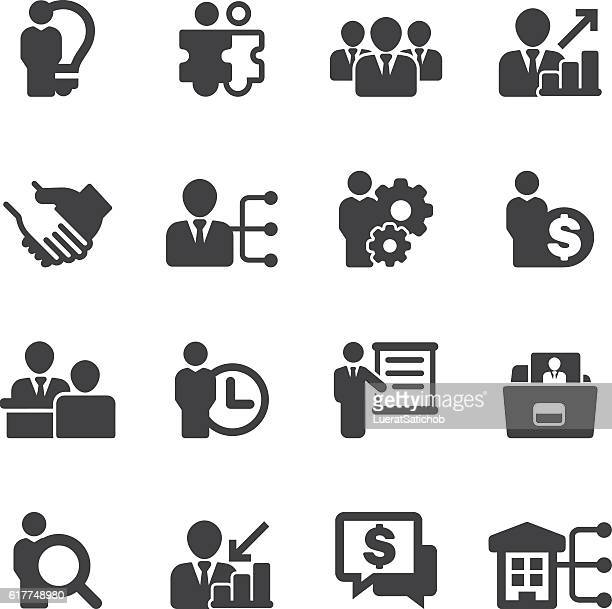 Human resource Business and Management Silhouette Icons | EPS10