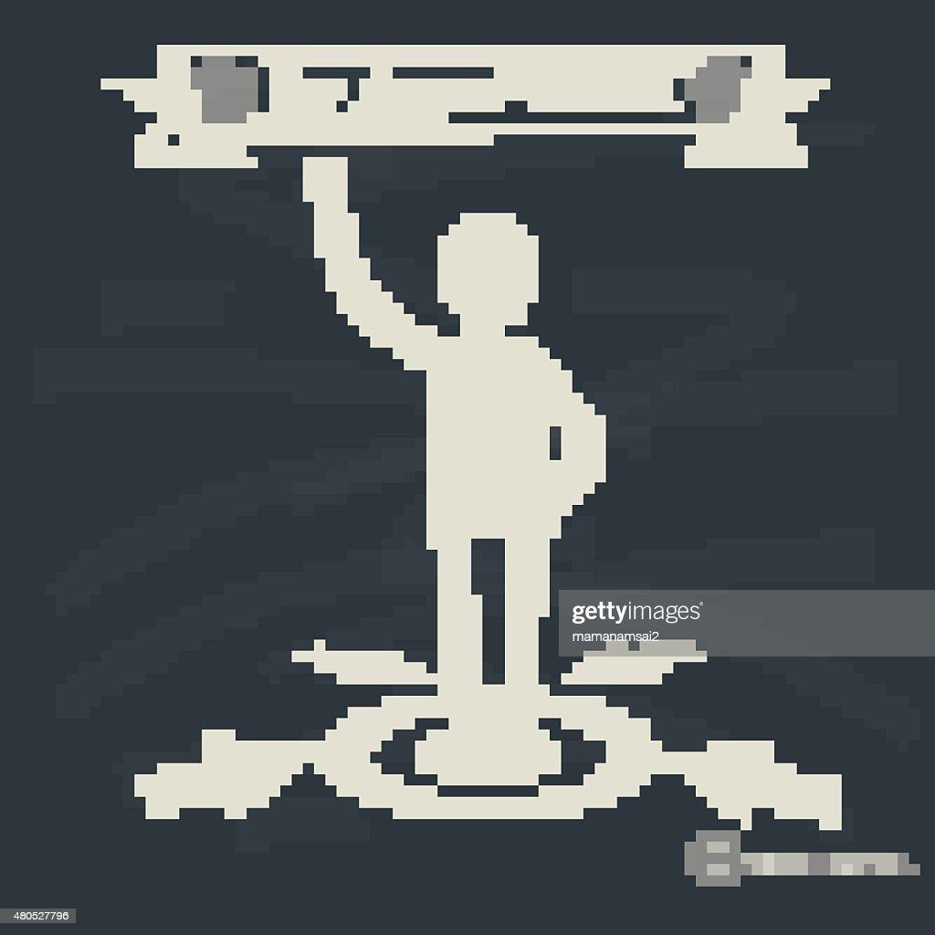 Human resource concept on blackboard background,vector : Vectorkunst