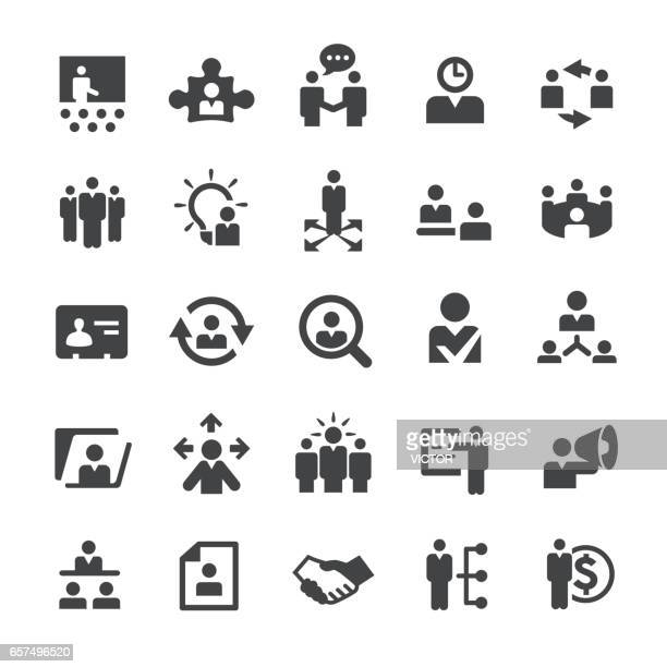 human resource icons - smart series - showing stock illustrations