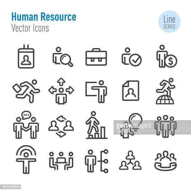 human resource icons - vector line series - corporate hierarchy stock illustrations, clip art, cartoons, & icons