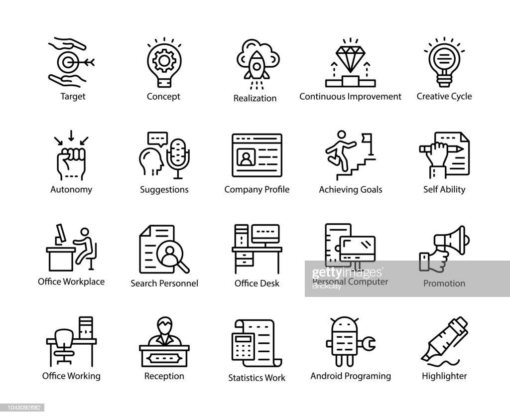 Human Resource Line Vector Icons