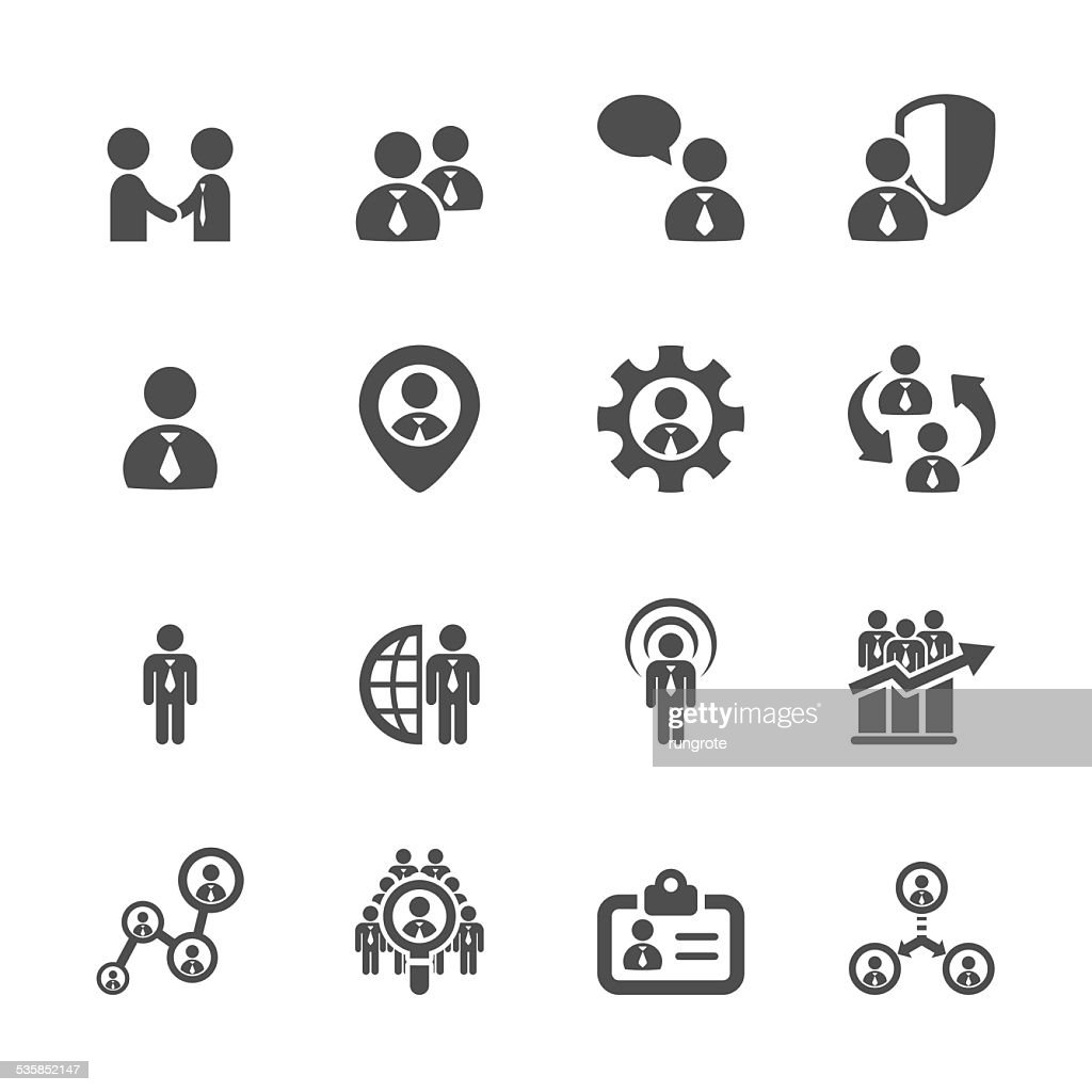 human resource management icon set 5, vector eps10