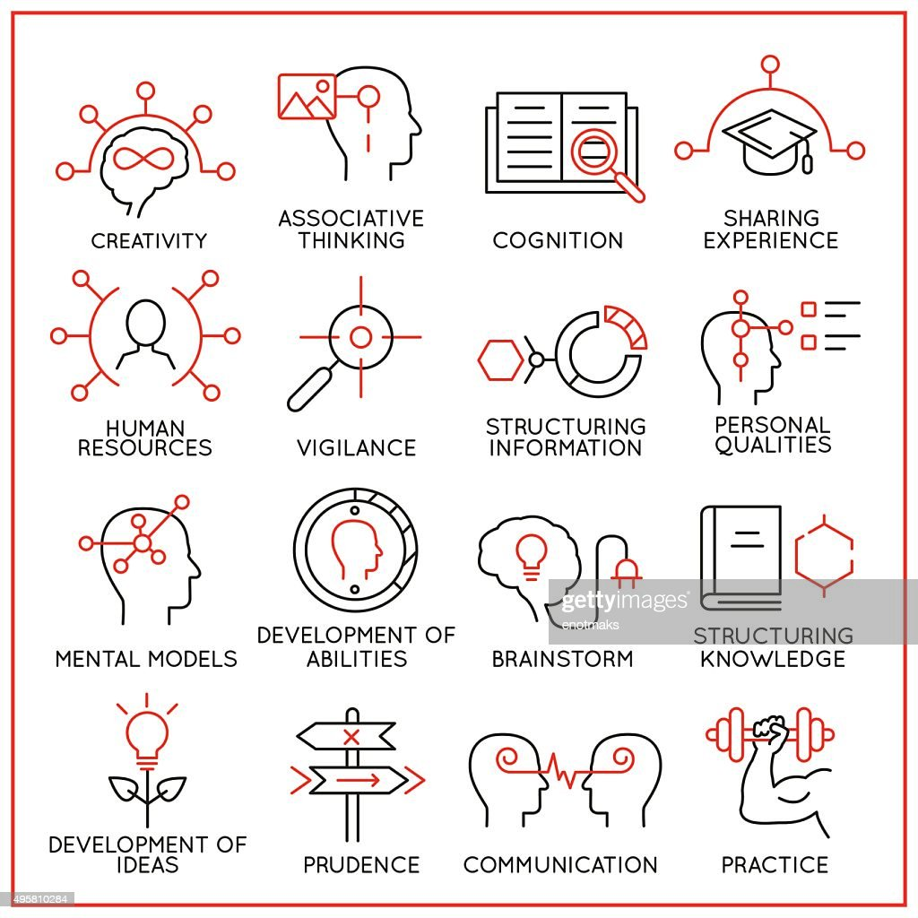 Human resource management icons - part 1