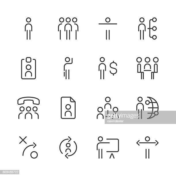 Human resource management-icons set 1/Schwarz-Serie