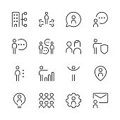 Human resource management icons set 2 | Black Line series