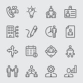 Human resource management line icon