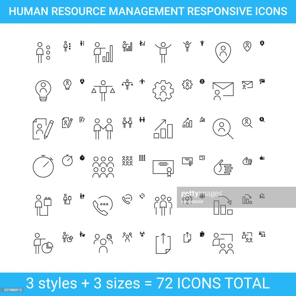 Human resource management responsive icons | set 2