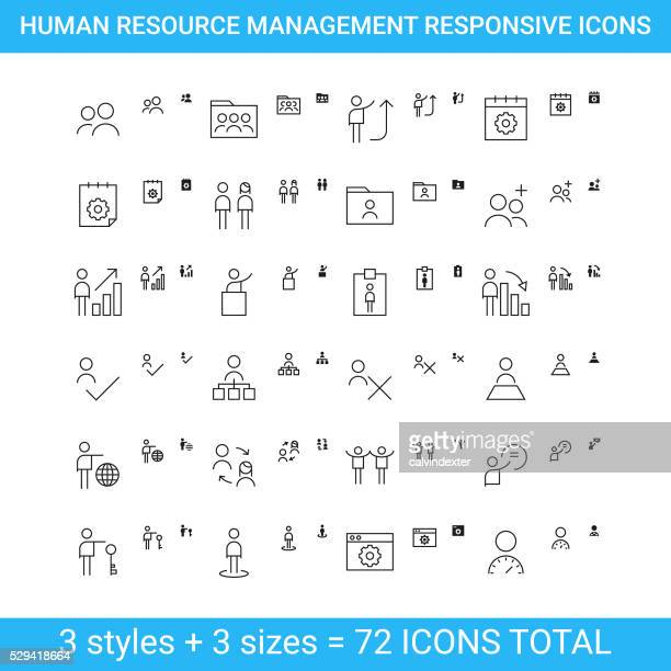 Human resource management responsive icons | set 3