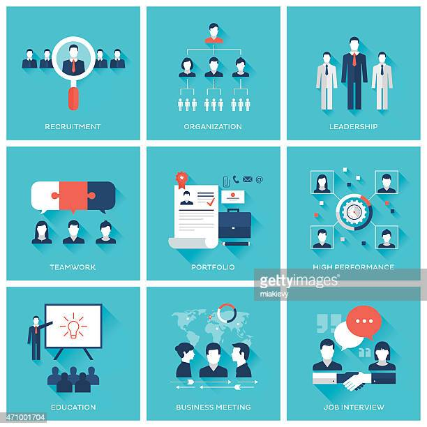 human resource management - white collar worker stock illustrations, clip art, cartoons, & icons