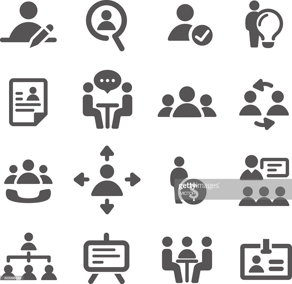 Human Resource, Strategy and Business Icons - Acme Series