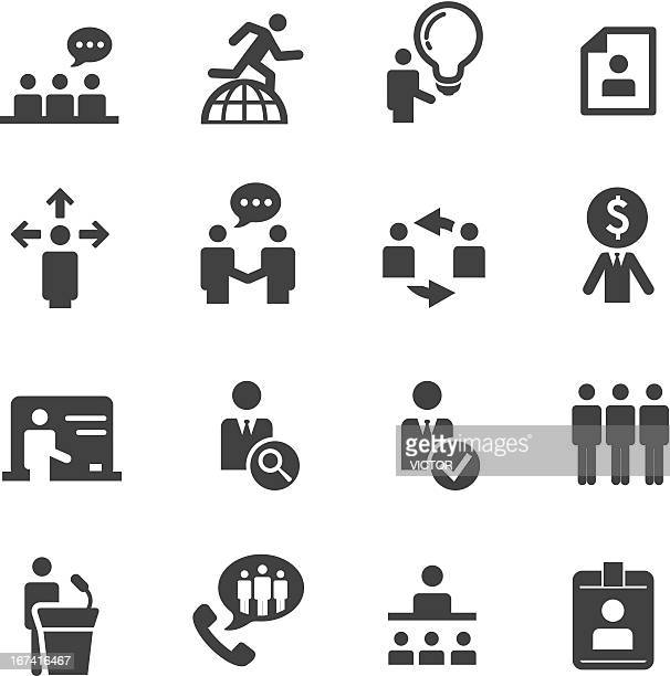 human resource, strategy and business icons series - corporate hierarchy stock illustrations, clip art, cartoons, & icons