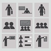 Human resources and management icons set. Office people icons set.Business,