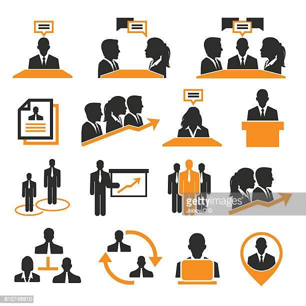 Risorse umane e gestione icone