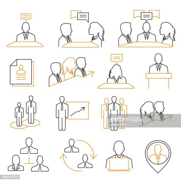 human resources and management icons - corporate hierarchy stock illustrations, clip art, cartoons, & icons