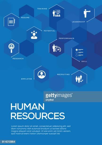 human resources. broschüre vorlage layout, cover-design - bericht stock-grafiken, -clipart, -cartoons und -symbole