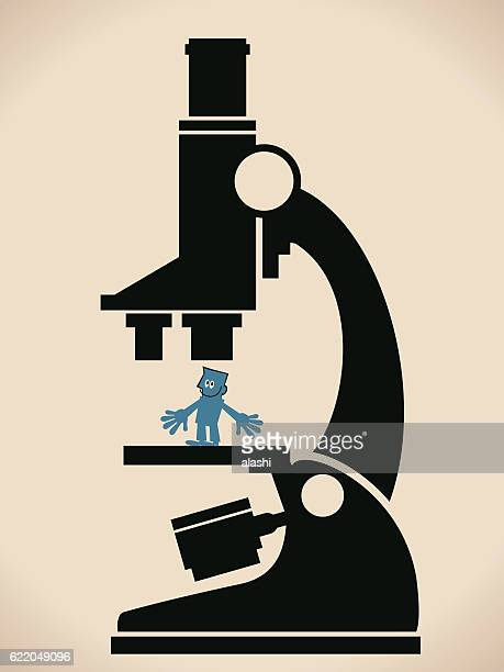 Human Resources Concept, Businessman Under A Giant Microscope