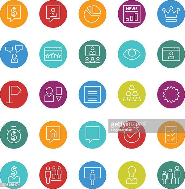human resources icon set - video editing stock illustrations, clip art, cartoons, & icons
