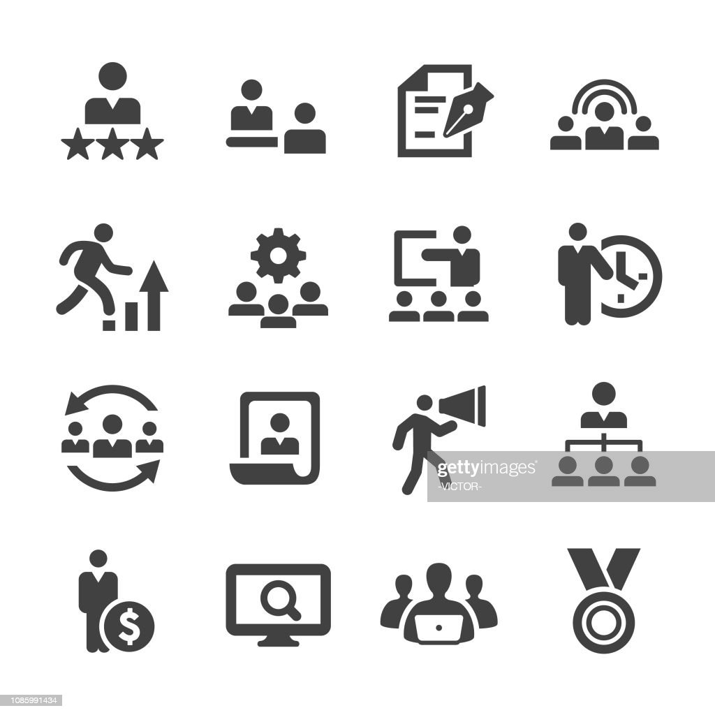 Human Resources-Icons - Acme-Serie : Stock-Illustration
