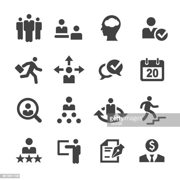 human resources icons - acme series - skill stock illustrations