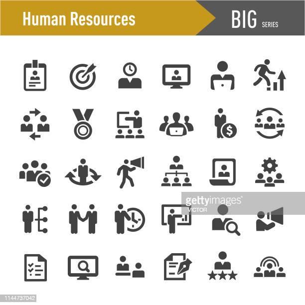 stockillustraties, clipart, cartoons en iconen met human resources iconen-grote series - aanvraagformulier