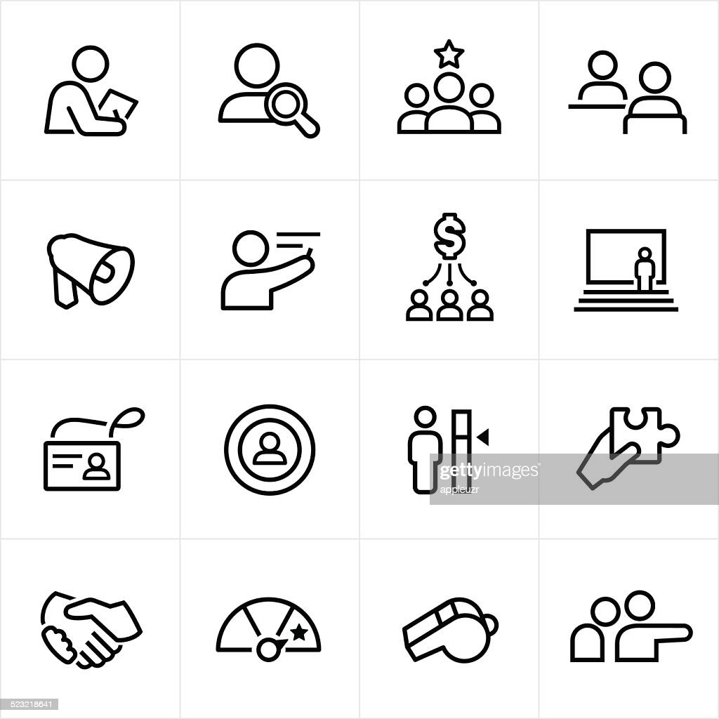 Human Resources Icons - Line Style