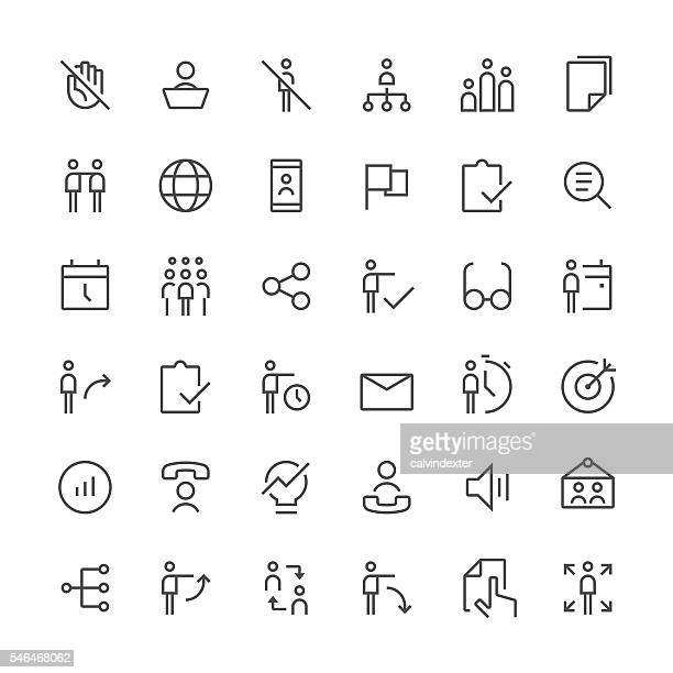 Human resources icons set 1 | Thin Line series