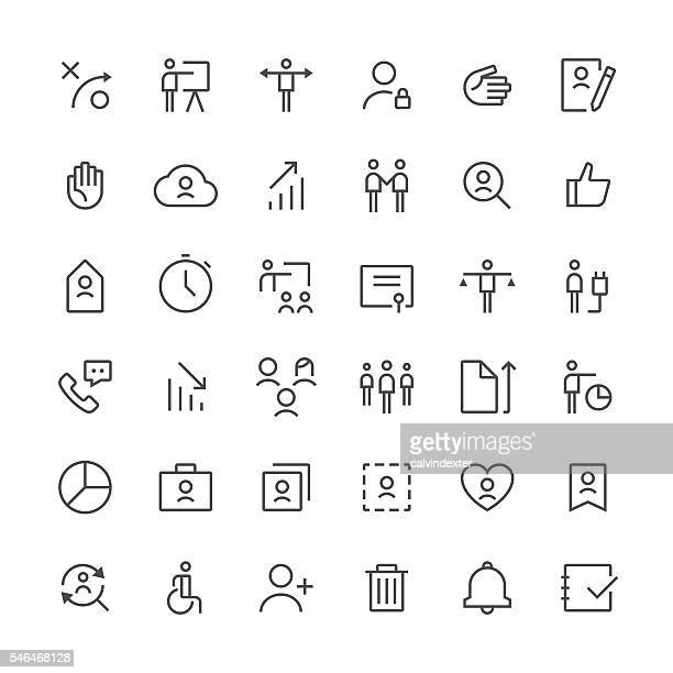Human resources icons set 2 | Thin Line series