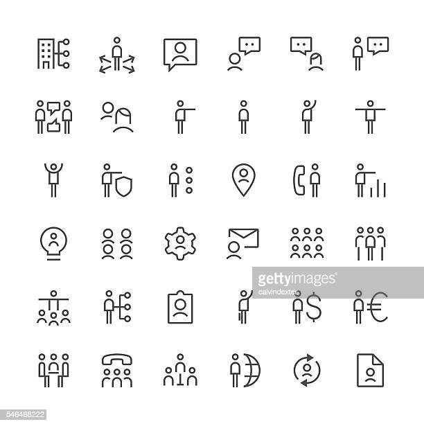 Human resources icons set 3 | Thin Line series