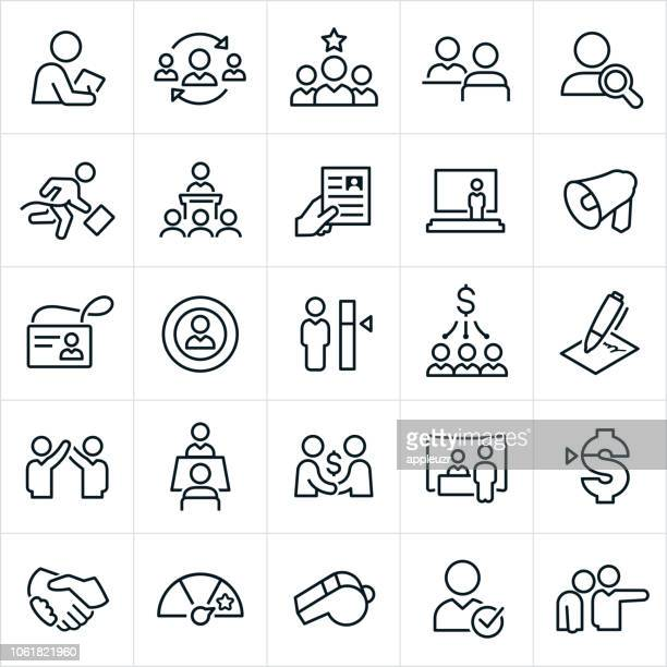 human resources icons - employee stock illustrations