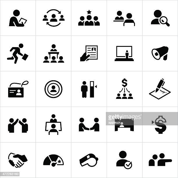 human resources icons - job interview stock illustrations, clip art, cartoons, & icons