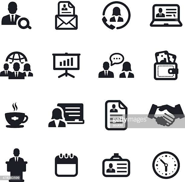 human resources icons - coffee break stock illustrations, clip art, cartoons, & icons