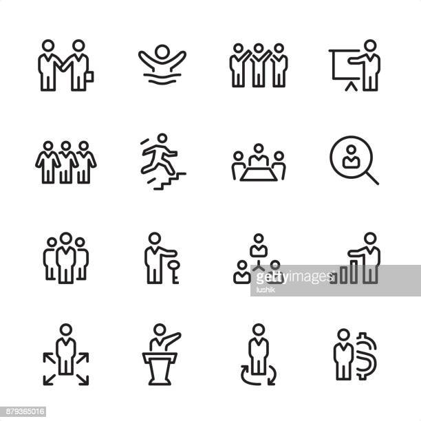 Human Resources - outline icon set