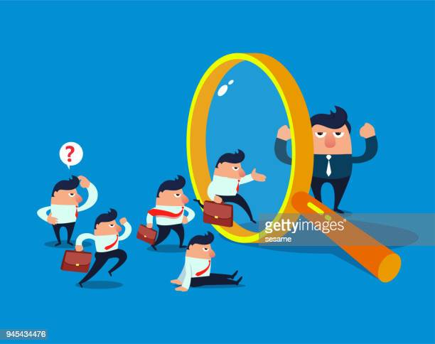 human resources selection - film and television screening stock illustrations