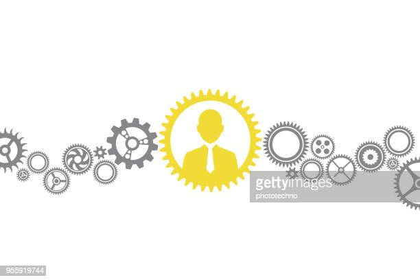 human resources solution concepts - change stock illustrations