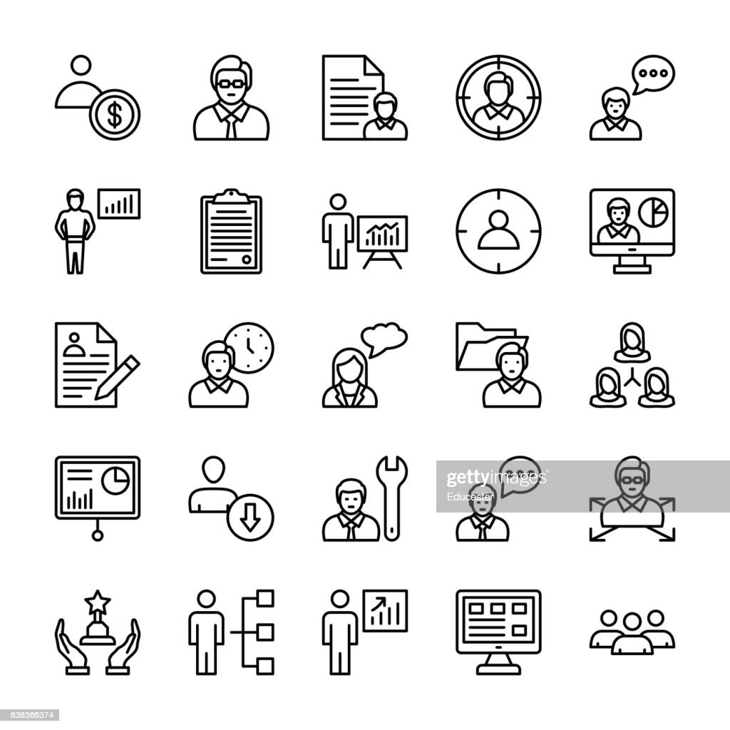 Human Resources Vector Line Icons 1
