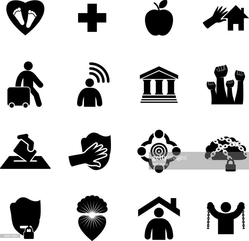 Human Rights Icon Set