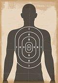 Human shooting target