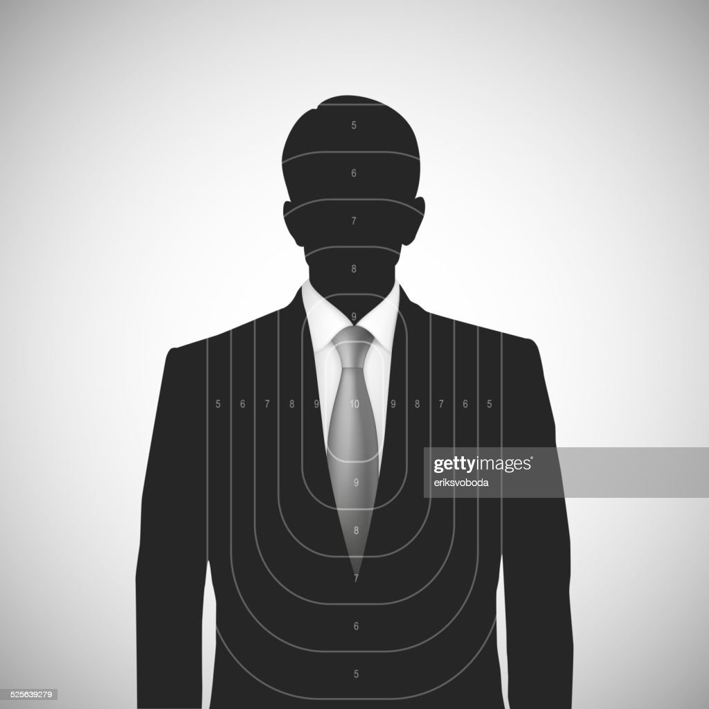 Human silhouette target . Unknown person