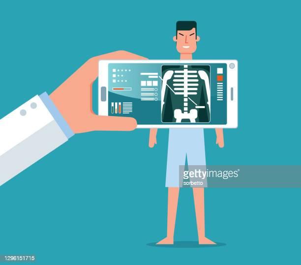 ヒト骨格 - x線 - 放射線技師点のイラスト素材/クリップアート素材/マンガ素材/アイコン素材