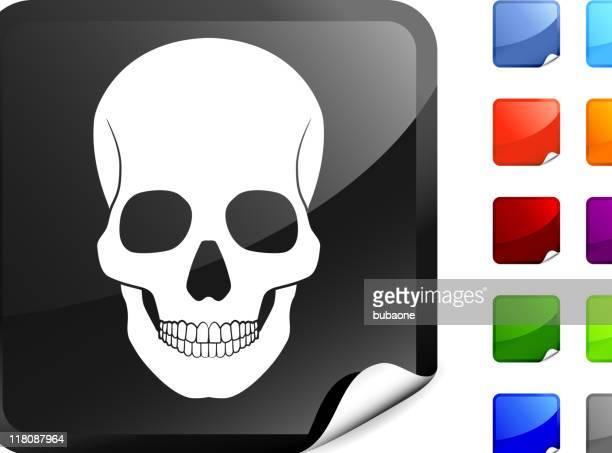 Cráneo humano internet de arte vectorial libre de derechos